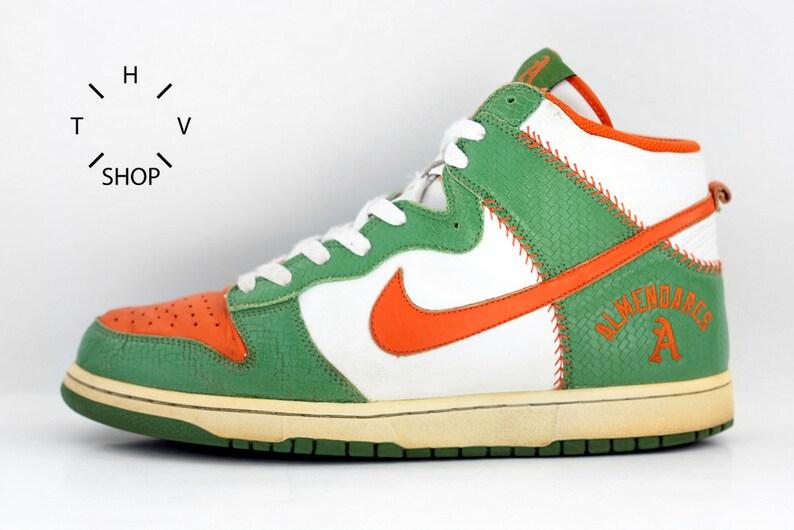 new concept a1a39 b2f35 Vintage Nike Dunk HI Tops Almendares Club sneakers  Etsy