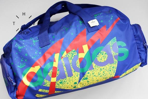NOS 1992 Adidas Originals colored colorful training handbag    95146e2d2307b