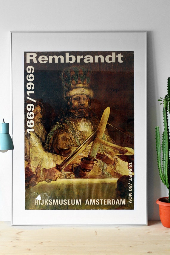 1969 vintage Rembrandt Harmenszoon van Rijn exhibi