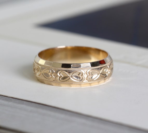 Details about  /ART DECO 1 CT RETRO ADJUSTABLE STACKING WEDDING BAND 14K YELLOW//ROSE//WHITE GOLD