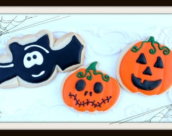 Custom Decorated Halloween Sugar Cookies