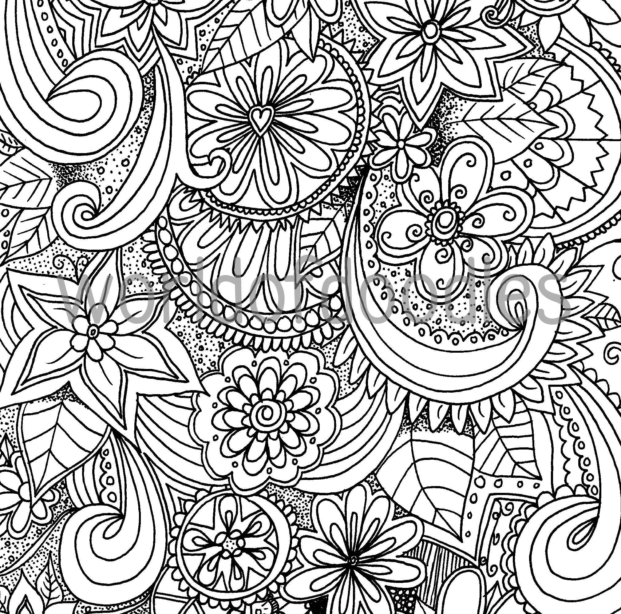 Flower Garden 2 A4 Colouring Page Printable PDF Download ...