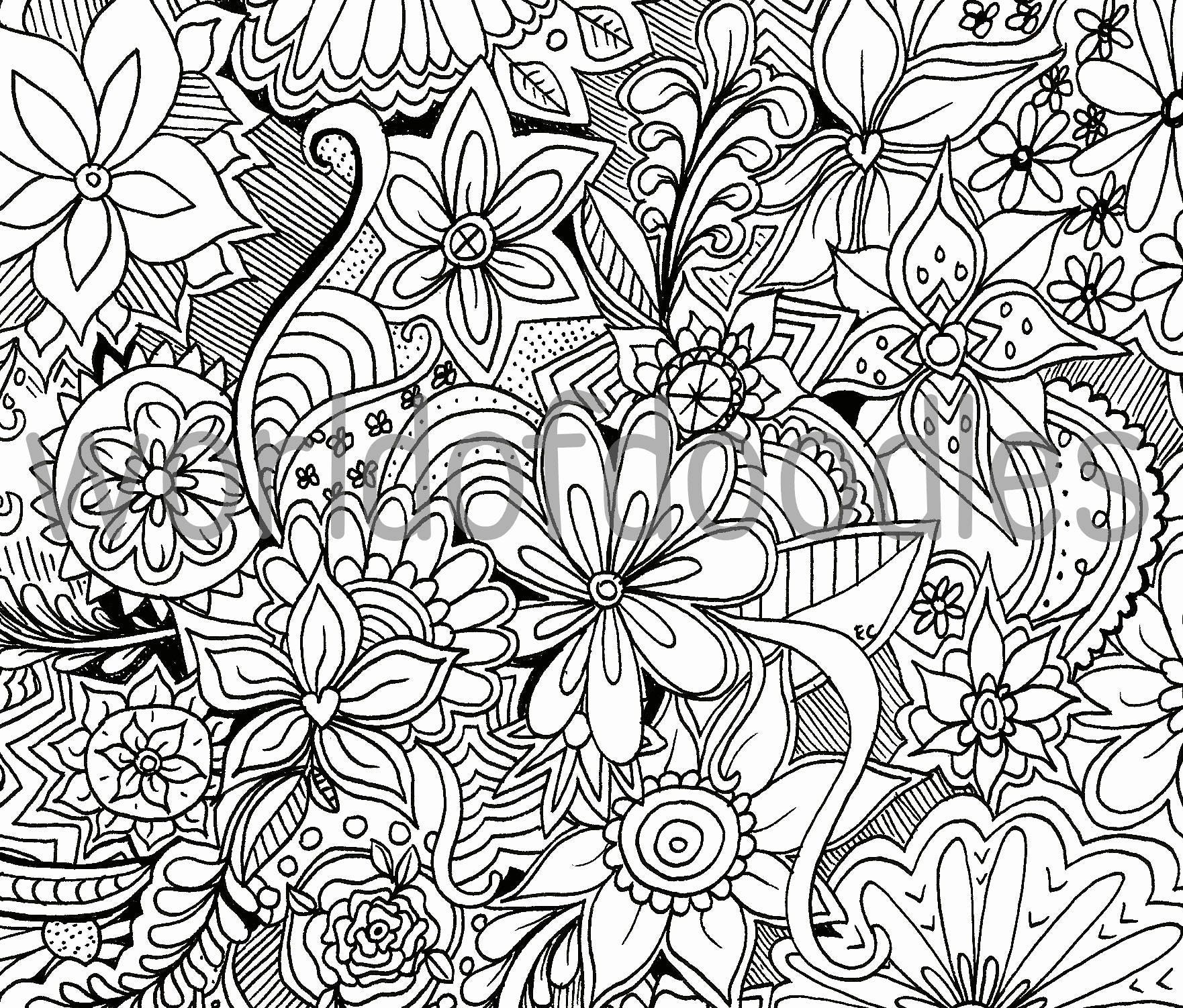 Flower Garden 1 Detailed Colouring