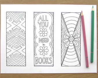 Coloring Bookmarks Printable coloring