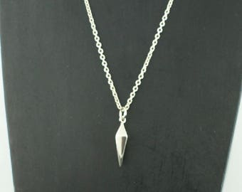 """Sterling Silver Small Spike 24"""" Necklace"""
