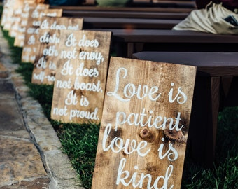 Love is patient.... Wedding Isle Signs