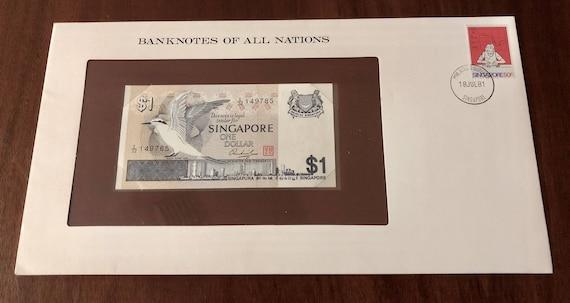 Singapore Banknote 1 Dollar Flower Edition UNC