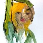 Woman Art Original Acrylic Painting on paper