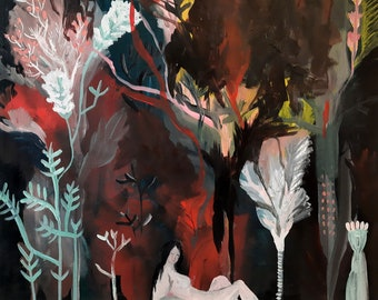 Eve painting original, original art, acrylic painting on canvas