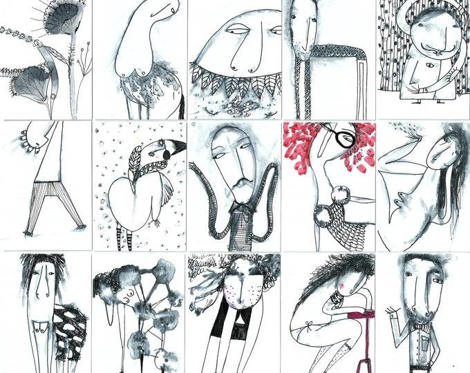 Art cards. Aceo. Atc