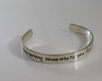 You Belong Somewhere You Feel Free - Song Lyrics Bracelet