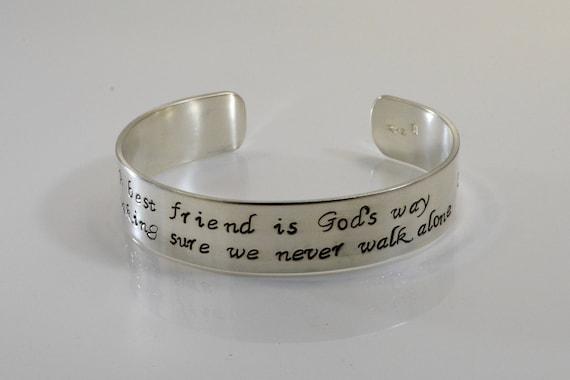 petite amie femme bracelet fille bracelet Dieux cadeau pour moi est que vous bracelet