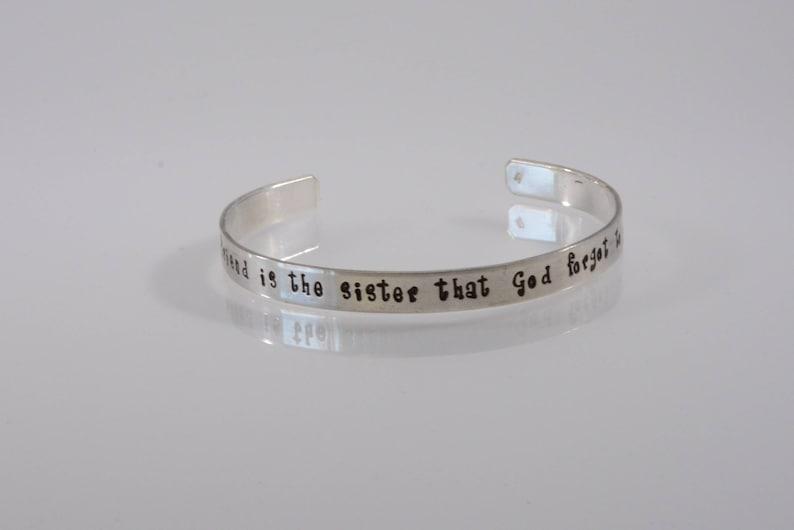 7a3745fc6 Sterling Silver Friendship Bracelet A dear friend is the | Etsy
