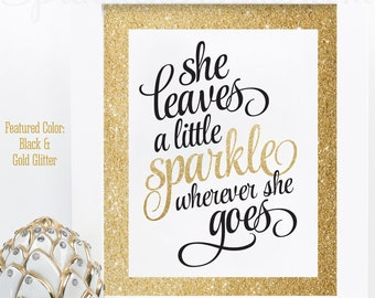 graphic relating to She Leaves a Little Sparkle Wherever She Goes Free Printable identified as She leaves a minor Etsy