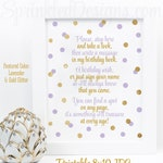 Birthday Guest Book Sign Printable, Please Sign My Birthday Book, Guestbook Sign, Lavender Purple Gold Glitter Birthday Party Decorations