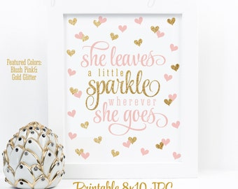graphic regarding She Leaves a Little Sparkle Wherever She Goes Free Printable identified as She Leaves A Minor Sparkle Any where She Goes Blush Purple Etsy