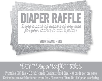 printable diaper raffle tickets silver glitter baby shower game ideas bring a pack of diapers bring a pack of diapers