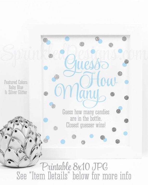 Baby Shower Games Guess How Many Candy Guessing Game Candies In