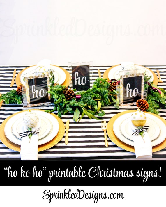 photograph about Printable Christmas Signs identified as Printable Xmas Social gathering Decorations, ho ho ho Printable