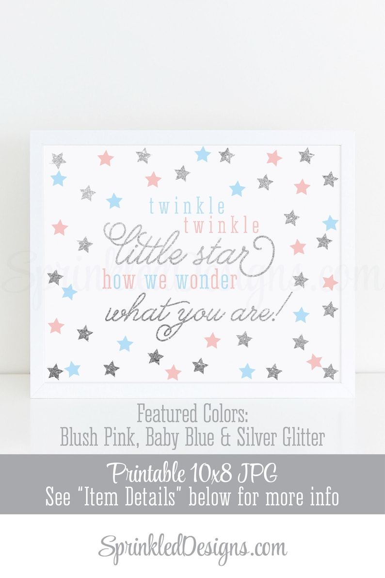 Twinkle Little Star How We Wonder What You Are  Printable image 0