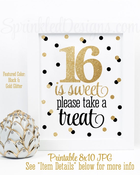 16 Is Sweet Take A Treat