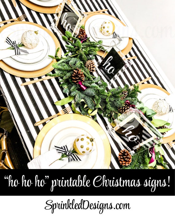 photo about Printable Christmas Signs named Printable Xmas Social gathering Decorations, ho ho ho Printable
