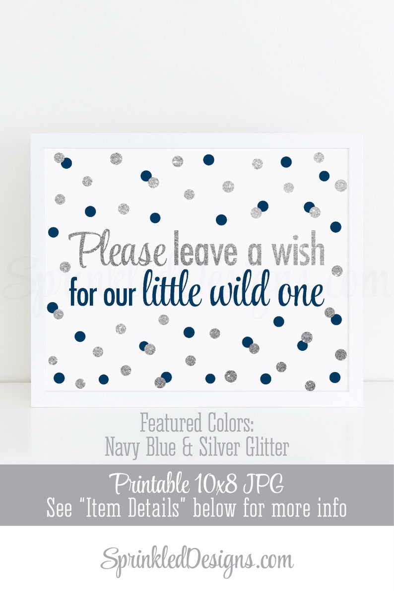 Leave A Wish For Our Little Wild One  Baby Shower or 1st image 0