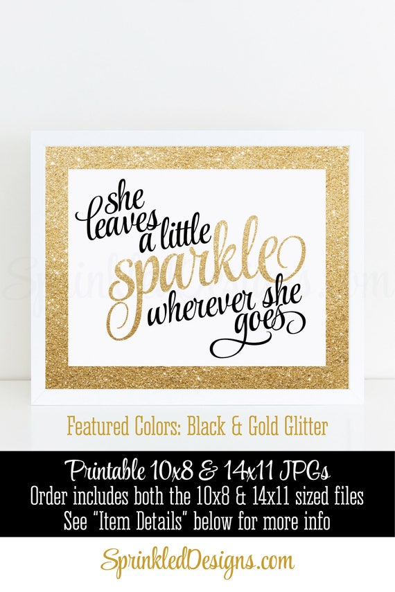 graphic about She Leaves a Little Sparkle Wherever She Goes Free Printable titled She Leaves A Minimal Sparkle Any place She Goes Printable Indication