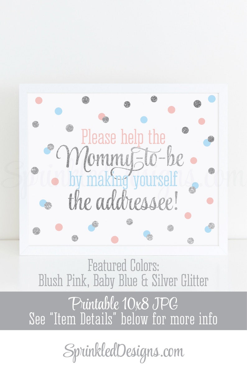 Baby Shower Envelope Addressee Sign Envelope Addressing image 0