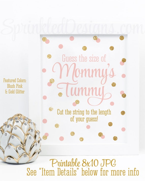 picture about How Big is Mommy's Belly Free Printable named Kid Shower Online games - How Significant Is Mommys Abdomen, Bet The Measurement