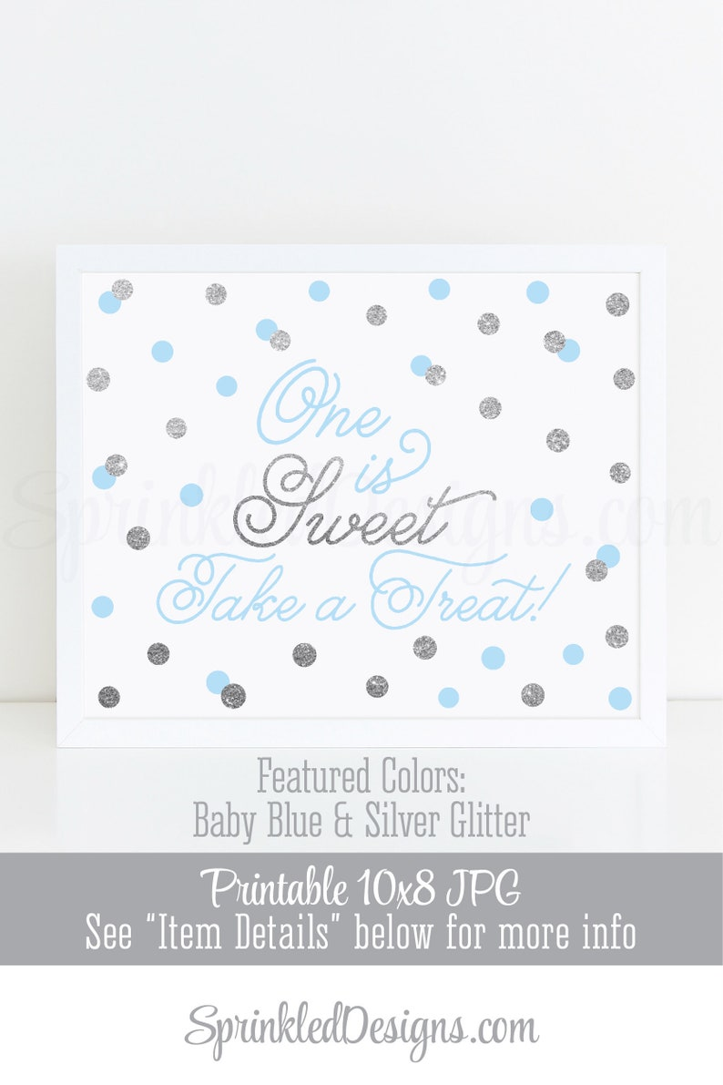One is Sweet Take A Treat  Printable First Birthday Party image 0