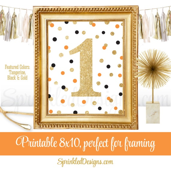 Halloween First Birthday Party Sign Big One 1 Black