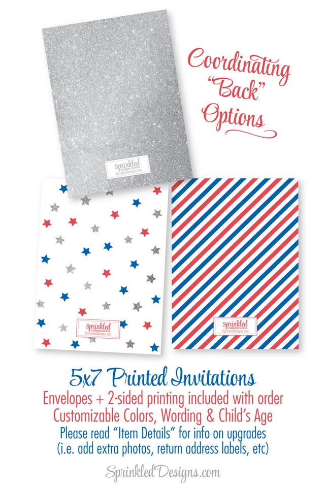 4th Of July First Birthday Invitations