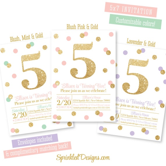 5th Birthday Invitation