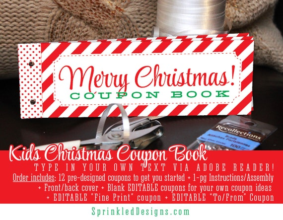 Christmas Coupon Book For KIDS Gift Ideas For Son Daughter