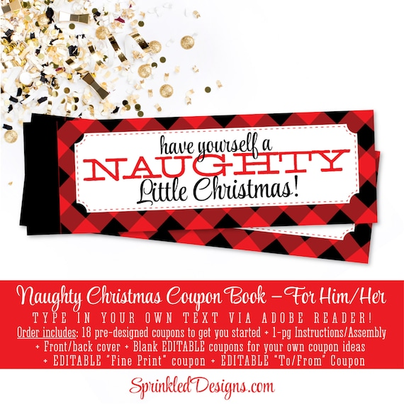 Christmas naughty coupon book sexy christmas gifts for him etsy image 0 solutioingenieria Image collections