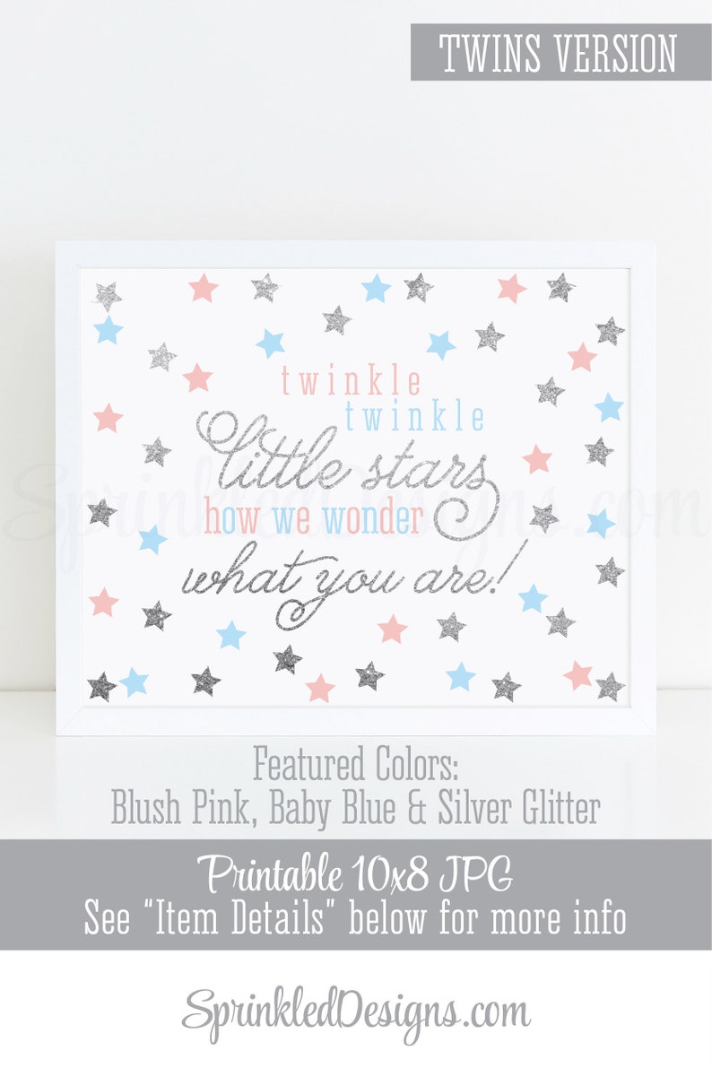 Twinkle Little Stars How We Wonder What You Are  Printable image 0