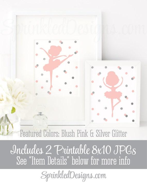 graphic relating to Printable Room Decor identify Ballerina Silhouette Wall Artwork, Small Ballerina Birthday