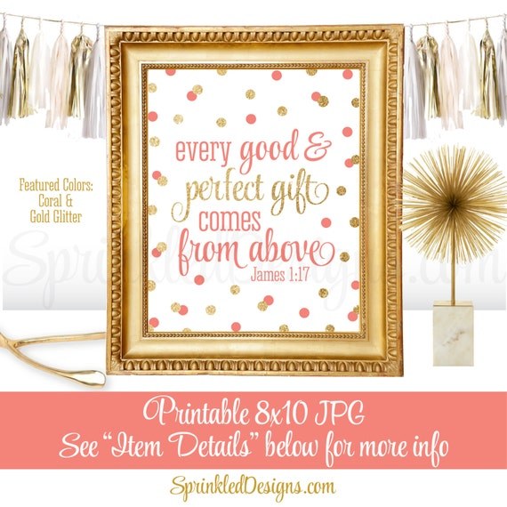 Every Good And Perfect Gift Comes From Above Religious Nursery Art