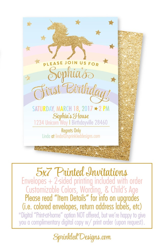 unicorn invitation unicorn birthday invitation unicorn party etsy