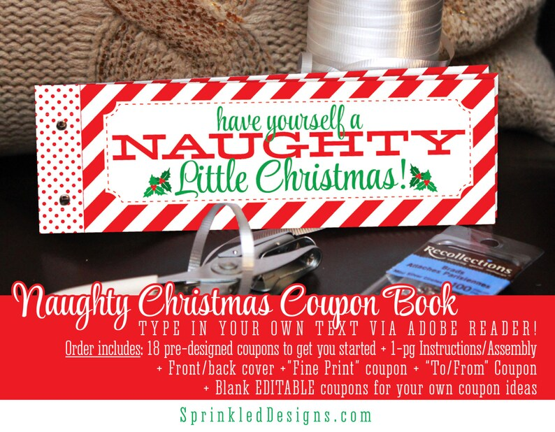 image 0 & Christmas Gifts For Him Her Naughty Coupon Book Printable   Etsy