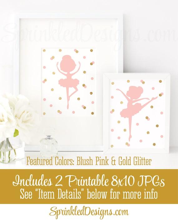 photo regarding Ballerina Silhouette Printable called Ballerina Silhouette Wall Artwork, Very little Ballerina Birthday