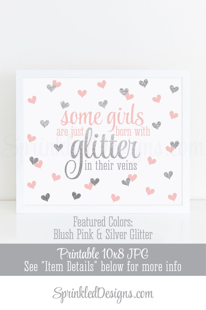 Printable Nursery Wall Art  Some Girls Are Just Born With image 0