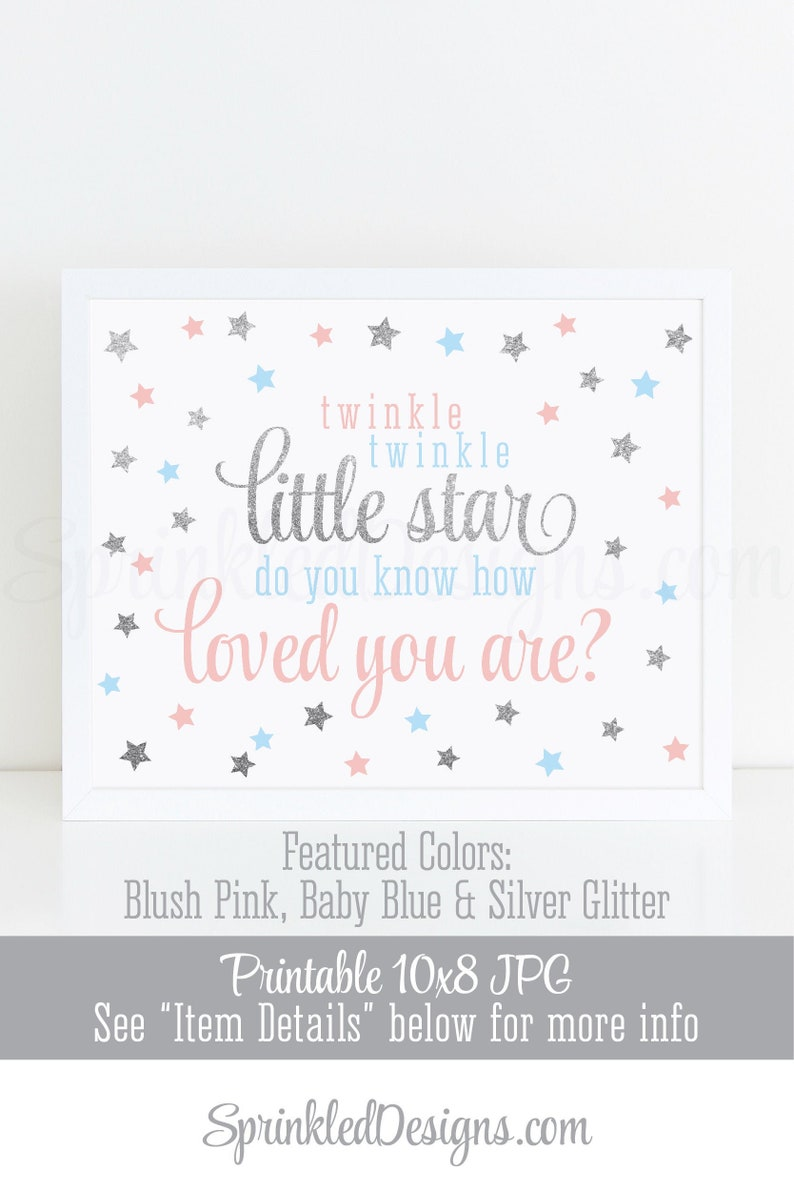 Twinkle Twinkle Little Star Baby Shower Decorations  Blush image 0
