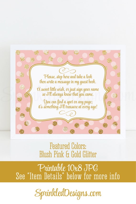 Baby Shower Guest Book Sign Girl Birthday Guest Book Sign Etsy