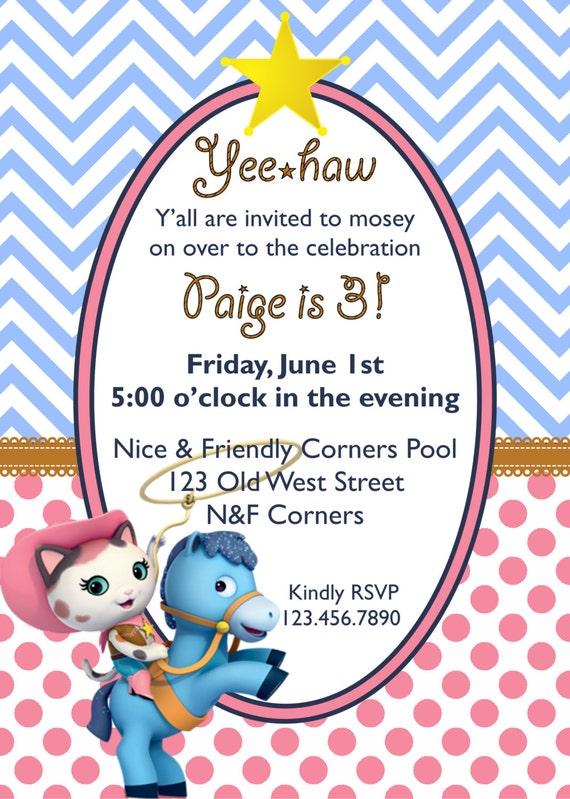 Sheriff Callie Birthday Invitation Sheriff Callie Invitation Etsy