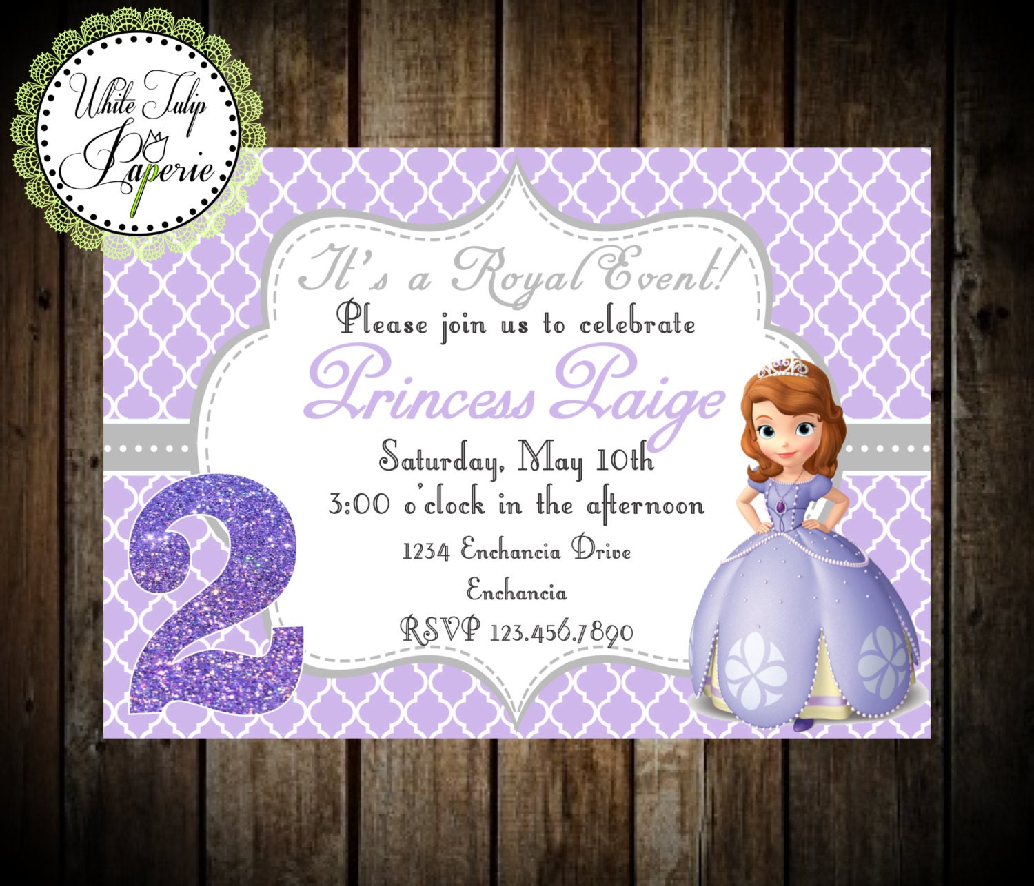 Sofia The First Invitation Sofia the First Birthday | Etsy