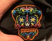 Embroidered Skull Calaveras Face Mask