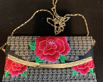 Embroidered Wallet Hand Bag Clutch Purse