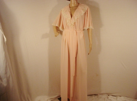 Christian Dior Pink Negligee Robe Vintage Lingerie